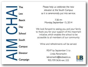 Elevator invitation email