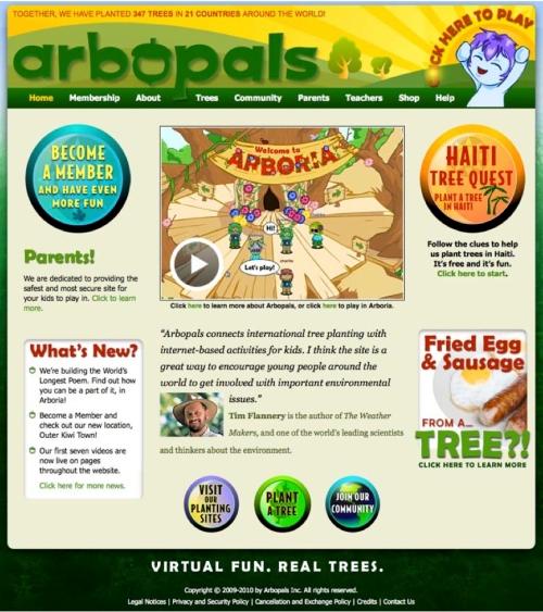 Homepage screenshot May 5 2010