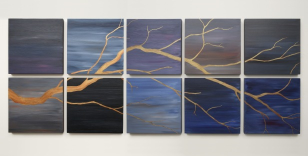 T.U.P. The Golden Branch 2010 acrylic on birch panels 25 inches X 63 inches X 1 inch